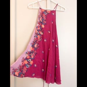 Free People Intimately swing dress magenta floral
